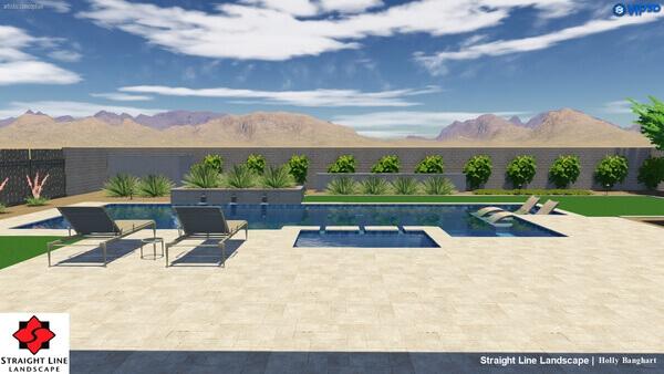 3D render of arizona pools