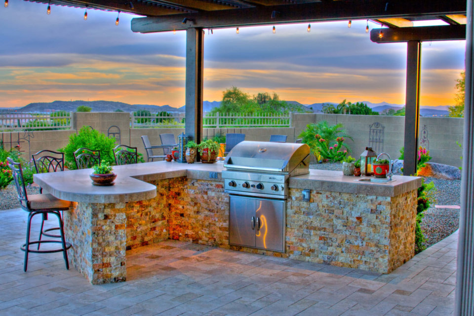 The Outdoor Kitchen Design Of Your Dreams In Pheonix Az