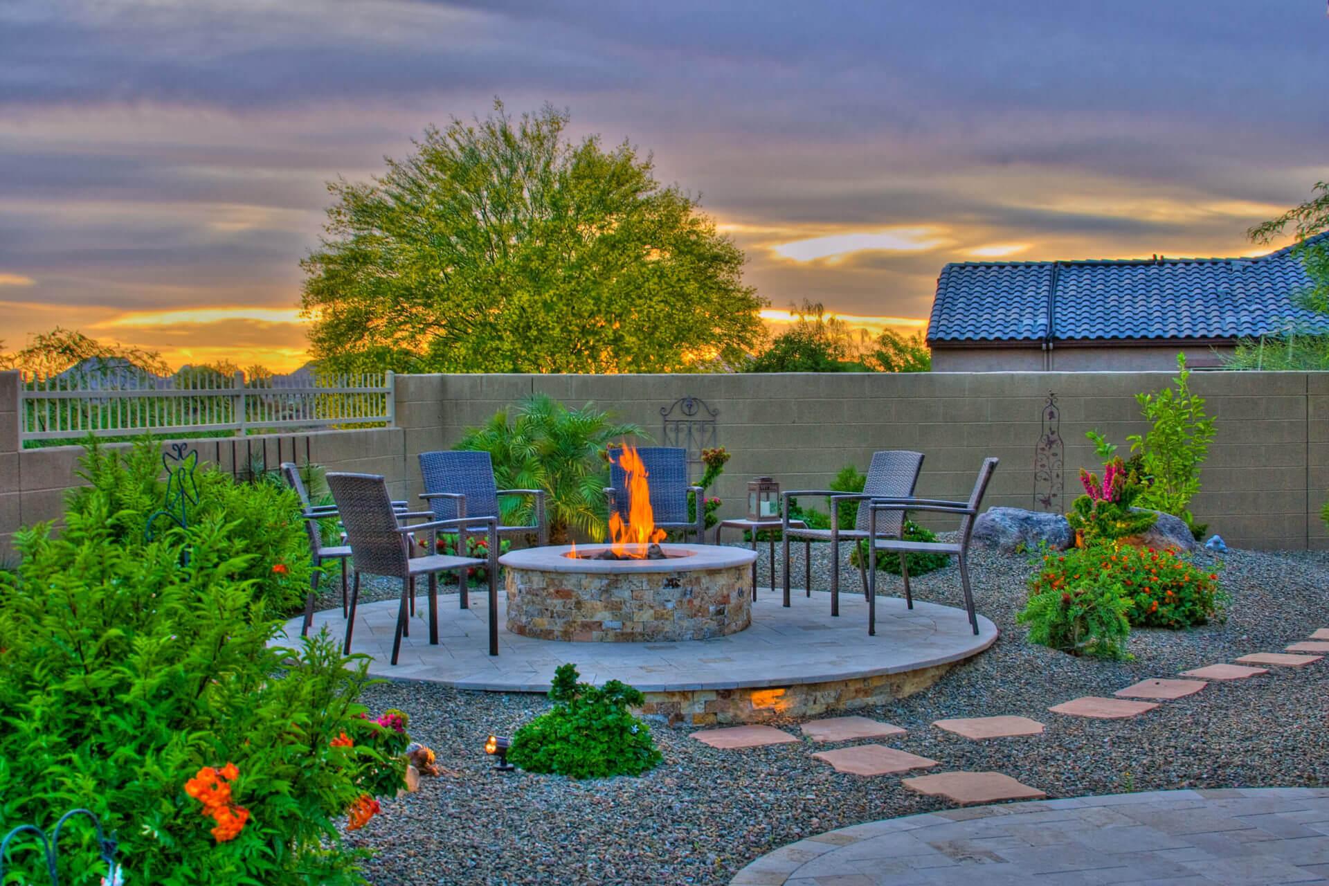 outdoor fireplace phoenix