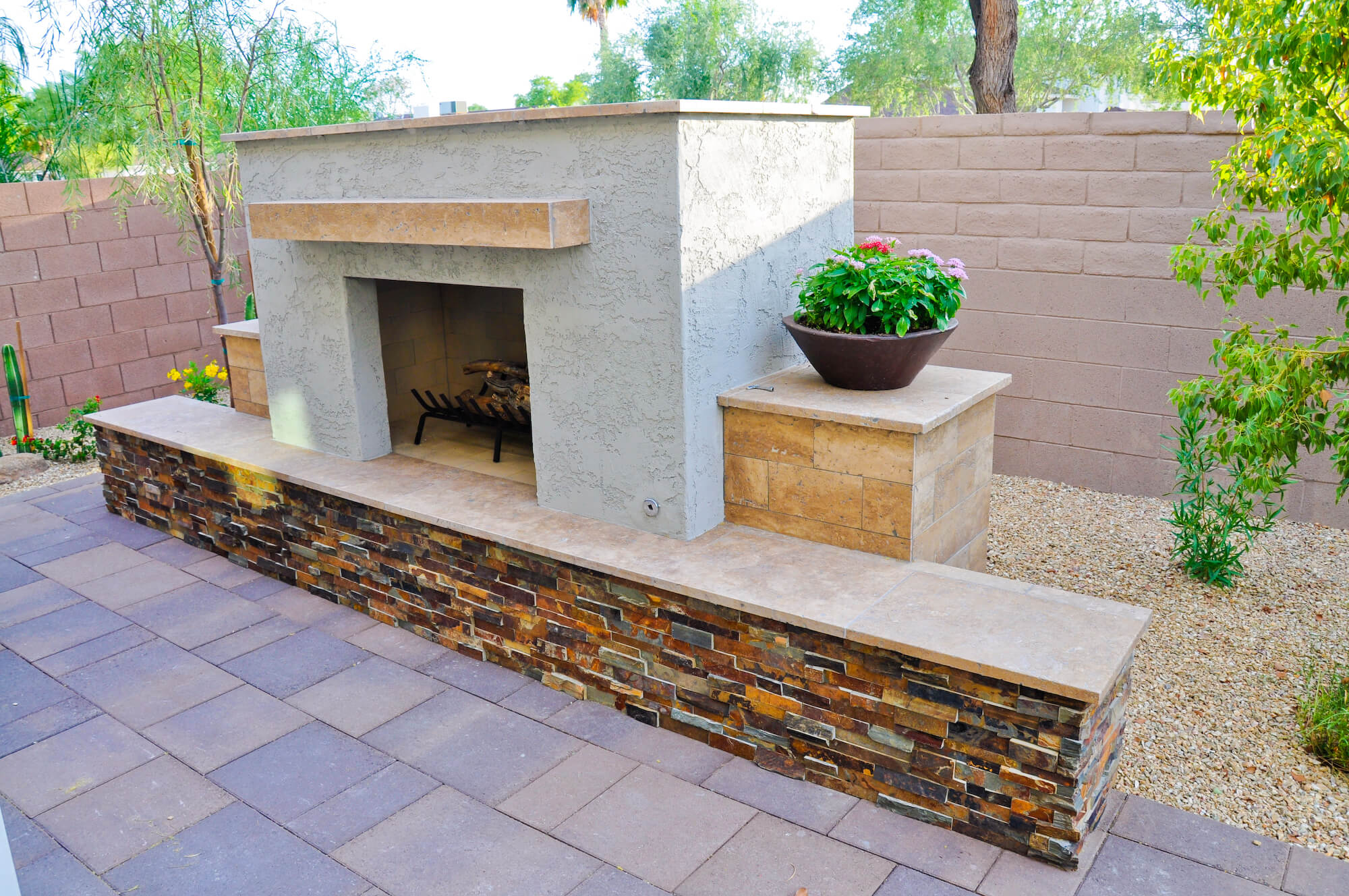 stand alone outdoor fireplace