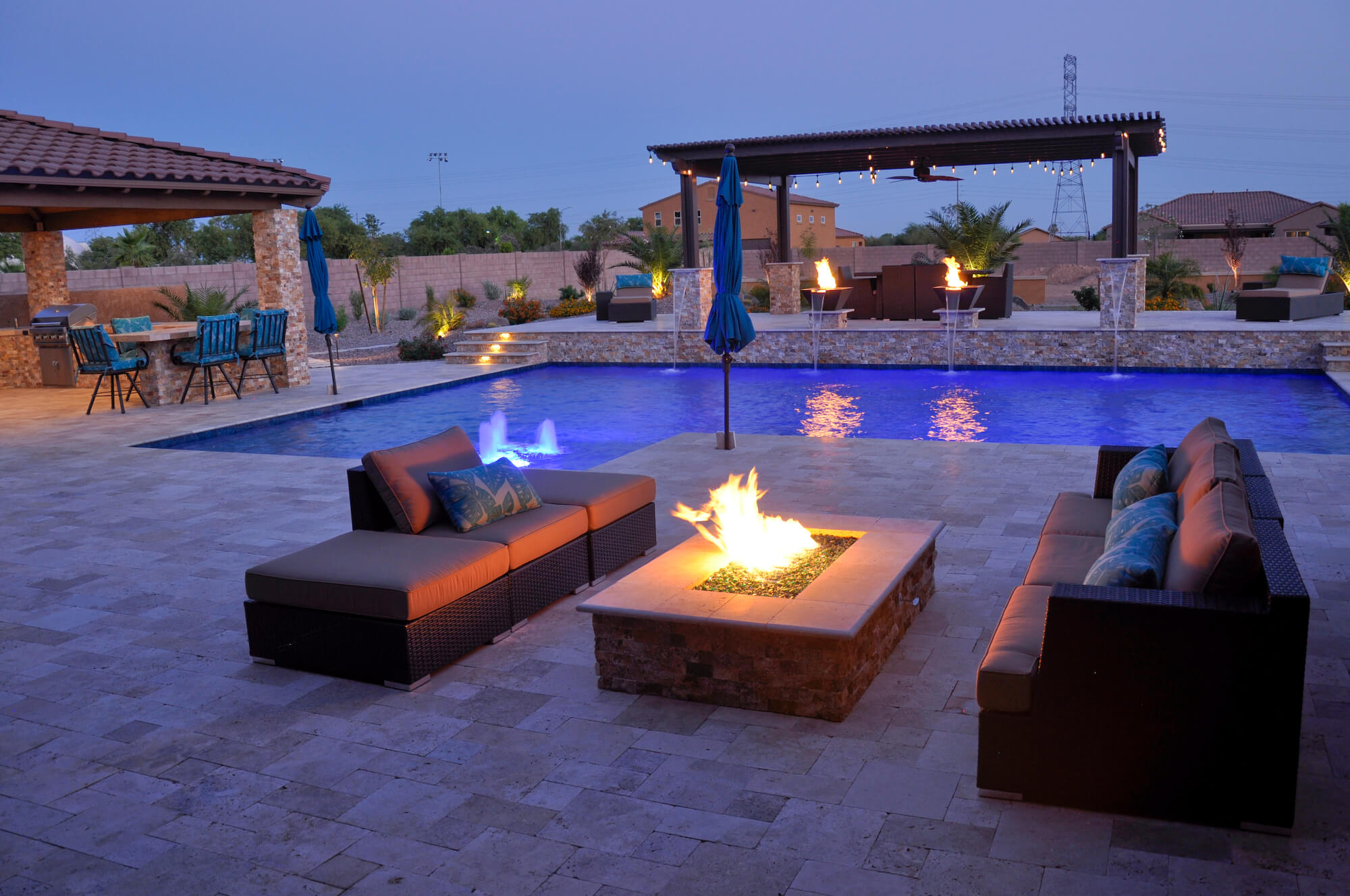 Fire pit living area