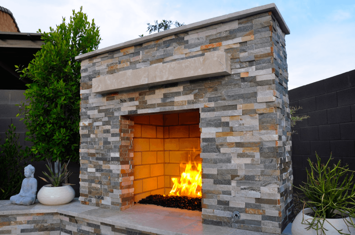 square fireplace