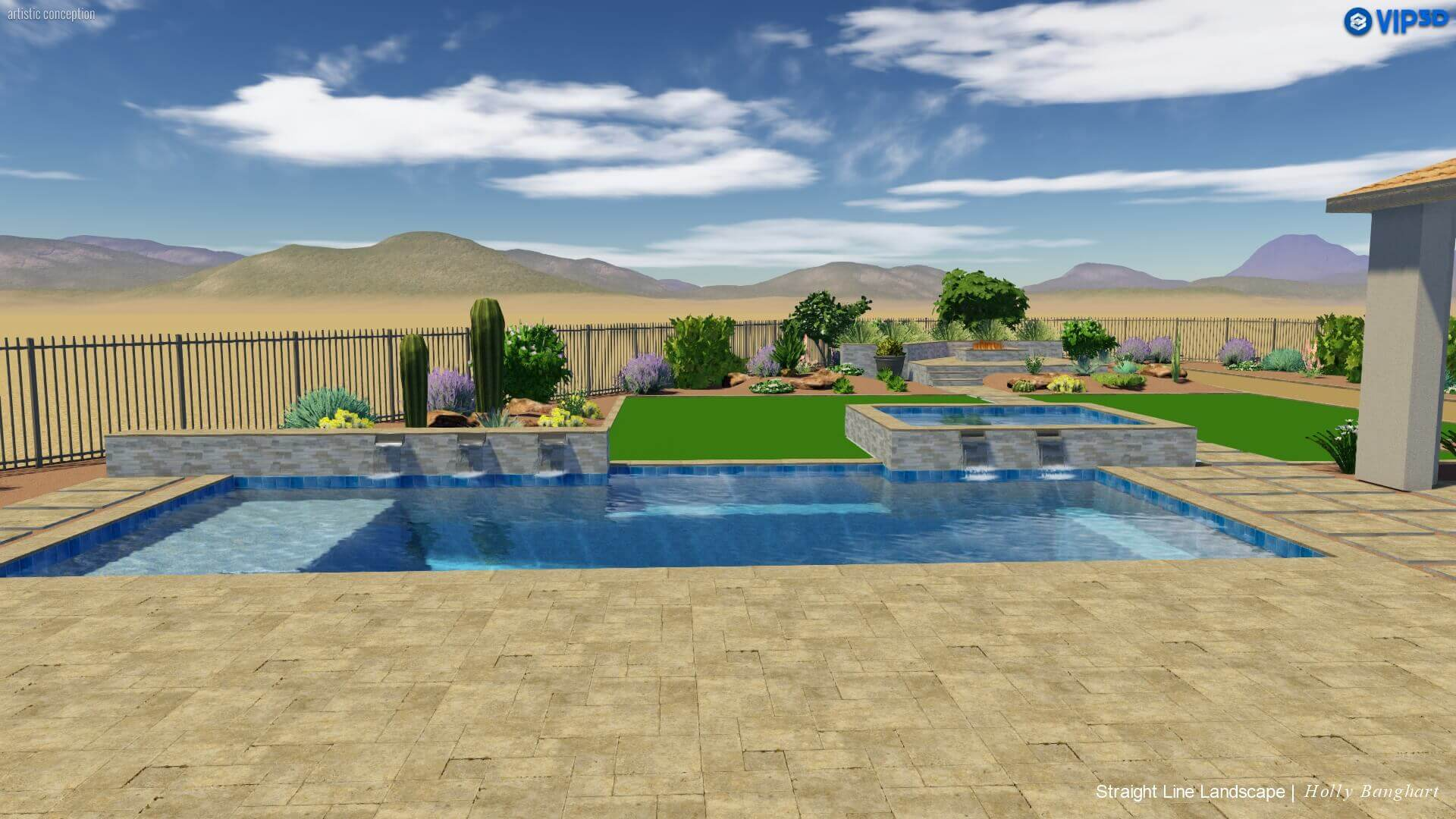 backyard pool and spa az